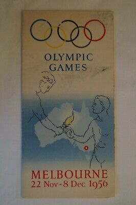 Olympic Games Collectable 1956 Melbourne Vintage Map and Programme Brochure