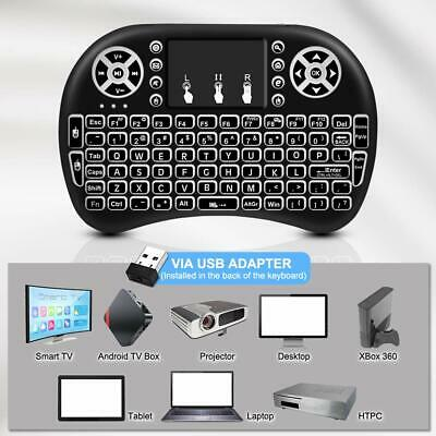 2 4GHZ MINI WIRELESS Touchpad Keyboard Air Mouse Remote For PC