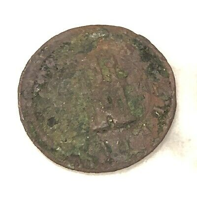 Authentic Medieval European Coin Knights Castle Image Artifact Copper Token