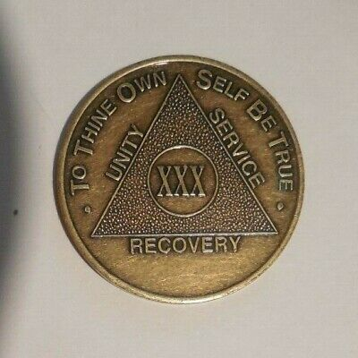AA ALCOHOLICS ANONYMOUS Coins CHIPS Key Chains Tri-plates 1 -60 year