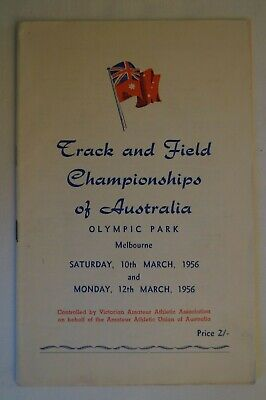 Olympic Games Collectable 1956 Melbourne Vintage Track & Field Championships Pgm