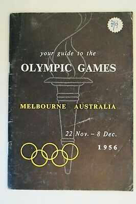 Olympic Games Collectable 1956 Melbourne Vintage Your Guide to The Olympic Games