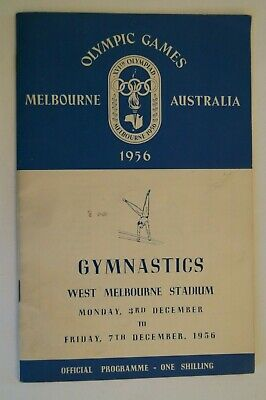 Olympic Games Collectable 1956 Melbourne Vintage Official Gymnastics Programme