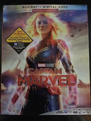Captain Marvel (Blu-ray Only No Digital, Like New)