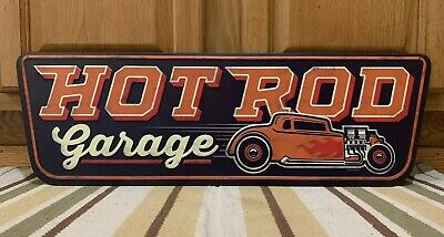Hot Rod Garage Metal Wall Decor Pump Motor Oil Texaco Mobil Can Garage Bar Pub