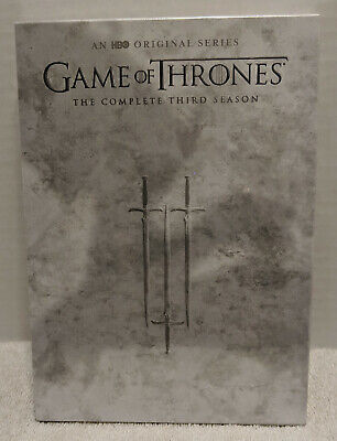 Game of Thrones: The Third Season 3 Three (DVD, 2016, 5-Disc) BRAND NEW SEALED