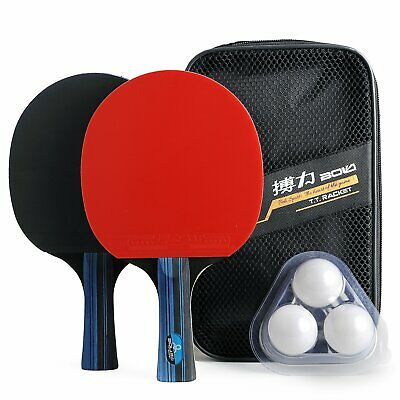 Training Table Tennis/Ping Pong Set - 2 Premium Paddles/Rackets/Bats, 3 Balls
