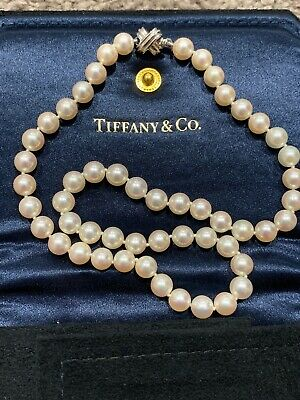 c51b1516a TIFFANY SIGNATURE X Akoya Pearl Necklace 7.1 - 7.5 mm with 18k Gold ...