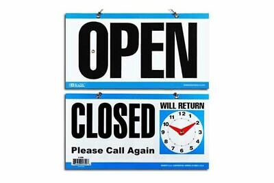 Bazic Sign 15 x 29cm (Closed + Clock Sign & Open Sign On Back)
