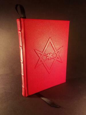 Leather Bound -BOOK OF THE LAW Liber AL vel Legis -Aleister Crowley Occult LaVey