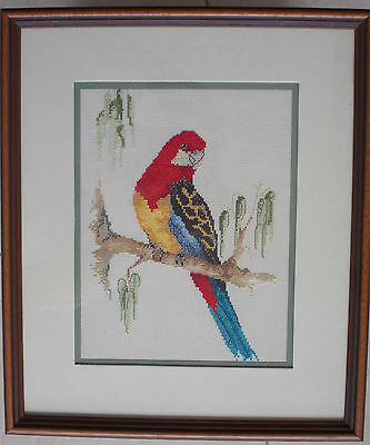 Cross Stitched & Framed Work - Rosella