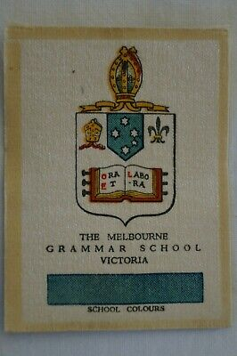 Vintage 1911 Wills Silk School Crests The Melbourne Grammar School Victoria