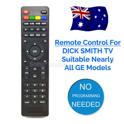 NEW LED LCD HD TV Remote for Dick Smith TV Models - No setup required AU