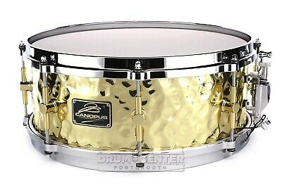 Canopus 'The Brass' Hammered Snare Drum 14x5.5 w/ Cast Hoops - Video Demo