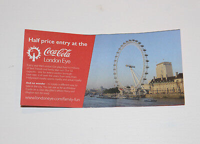"Half Price Voucher  ""London Eye"" up to 5 people."