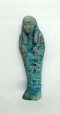 Ushabti (Shabti) Ancient Egyptian Statue Figure Inscribed Faience 2060 - 1500 BC