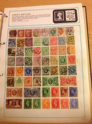 World Stamp Collection Over 5500 Stamps Including Over 500 Great Britain