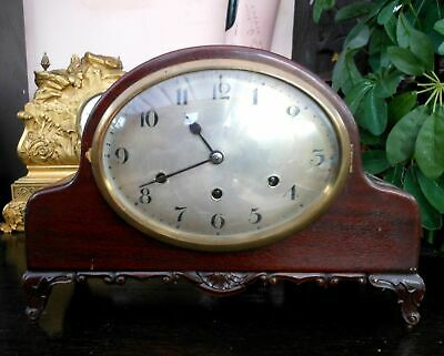 Fabulous Antique very large mantle clock that chimes old European chimes.