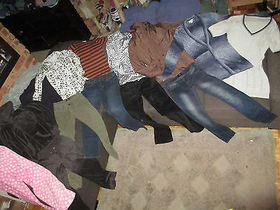 Bulk Lot Women's 10/Small winter clothes: Ben Sherman/TEMT/Vera Wang/Dotti Denim
