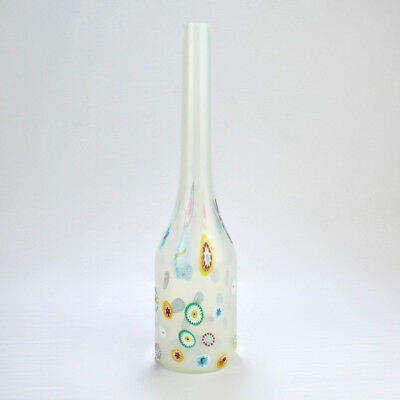 Murano Glass Bianco & Murrine Bottle Vase by Ermanno Toso for Fratelli Toso - GL