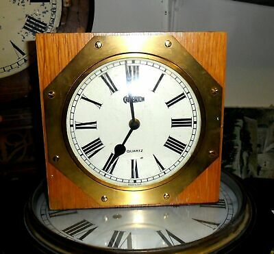 Fabulous early battery operated ships style mantle clock working condition