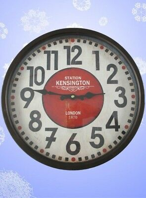 Wall Clock Iron (Battery) round D.36cm Gift in Vintage Aesthetics Wall Deco