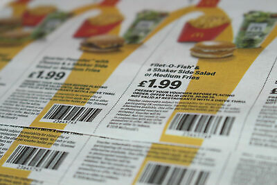 McDonalds Food Vouchers 40x