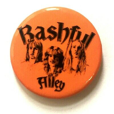 BASHFUL ALLEY - Button Pin Badge 25mm - NWOBHM