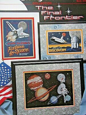 The Final Frontier. Space.Cross stitch charts.Planets and Exploration. New.