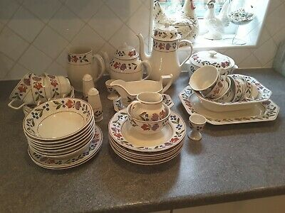Adams Old Colonial  assorted  pottery.  Approx 50 pieces.