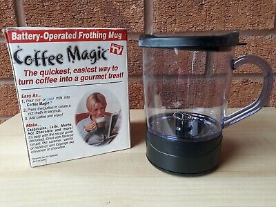 Coffee Magic Battery Operated Frothing Mug ,New 2
