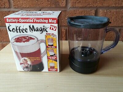 Coffee Magic Battery Operated Frothing Mug ,New 3