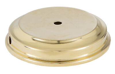 B&P Lamp Unfinished Flaired Disc Solid Brass Lamp Base