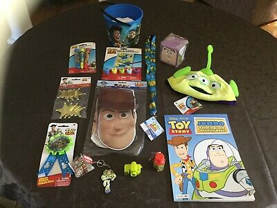 Toy Story Birthday Bucket Many Items, Can Wrap As Basket If Requested