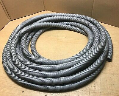 GREY CORRUGATED FLEXIBLE HOSE 1in /25mm Outer Dia approx 38 Ft / 11.5m Long.