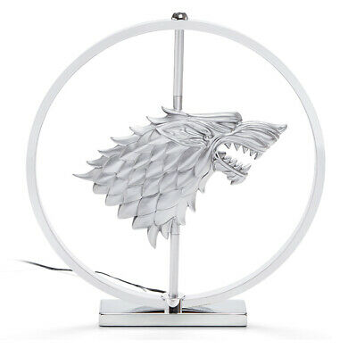 "HBO GOT Game of Thrones LED STARK CREST LAMP 14"" Desk Light metal"