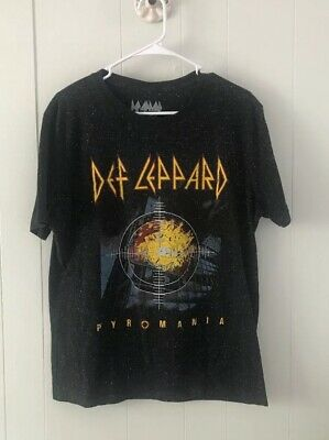 9061d11eb9f DEF LEPPARD PYROMANIA Oversized Tee Holes T-Shirt Dress Band Wash ...