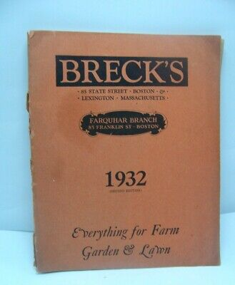 1932 Breck's Garden & Farm Catalog Flowers and Vegetables  192 Pages
