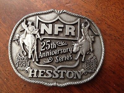 Hesston National Finals Rodeo 1983 25th Anniversary Series Belt Buckle NFR