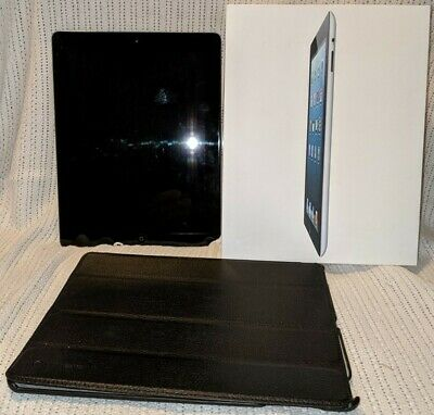 Apple iPad 4, 64GB, Wi-Fi, 9.7in - Black, case & protector fitted from new