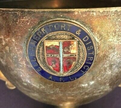 Ellesmere Port Cheshire silver plate football trophy, trophies, loving cup