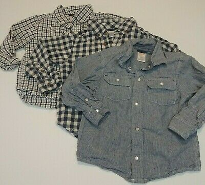Lot of 3 Gymboree Toddler Boys Button Down Long Sleeve Shirt Size 2T
