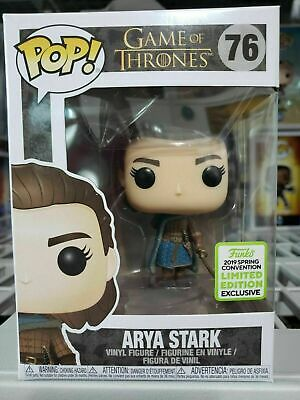 New FUNKO POP Game of Thrones Arya Stark Assassin #76 ECCC  Exclusive with Box