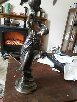 "spelter figure candle holde r 14 "" v good conition uk ownly("