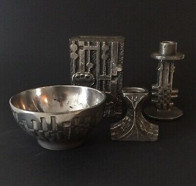 4 Teile Olav Joff Stainless Steel Norway MCM deco objects