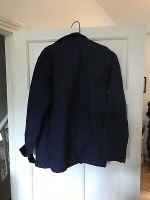 Deadstock VIntage Blue Cotton French Work Chore Jacket Workwear Size Approx 34""