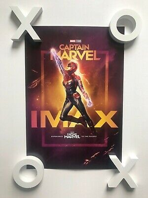 """Marvel Studios Captain Marvel Official Movie 13"""" x 19 PREMIERE NIGHT IMAX Poster"""