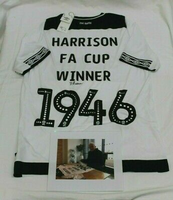 A One Off, Special Edition Derby County FC Shirt Signed Reg Harrison