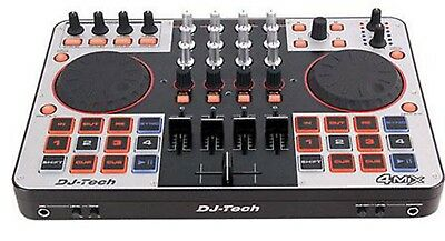 Dj-Tech-4MIX-4 Canales Controlador W/ Interfaz de Audio + Virtual Dj Le