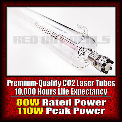 80W GLASS LASER TUBE for CO2 Laser Cutting and Engraving Machine | 10000 Hours